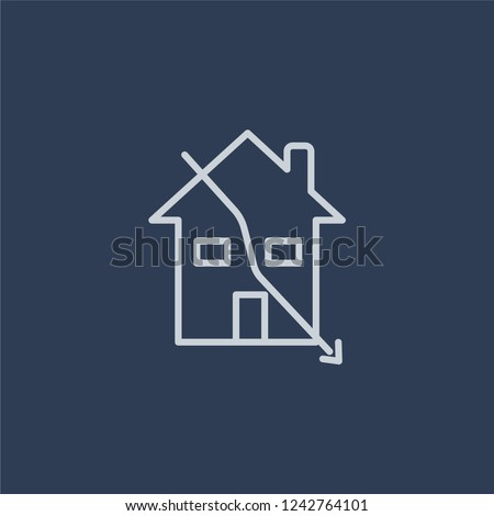 Sub-prime loans icon. Trendy flat vector line Sub-prime loans icon on dark blue background from business   collection.