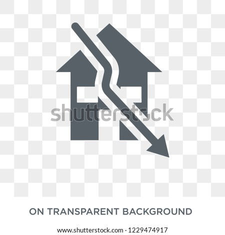 Sub-prime loans icon. Trendy flat vector Sub-prime loans icon on transparent background from business   collection. High quality filled Sub-prime loans symbol use for web and mobile