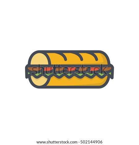 sub sandwich icon fast food