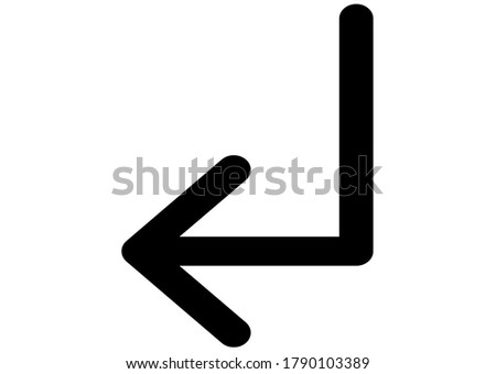 Subdirectory arrow left icon vector isolated on background. Trendy sweet symbol. Pixel perfect. illustration EPS 10. - Vector - Vector
