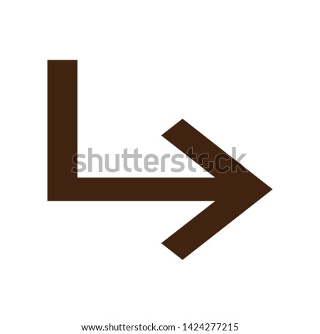 Subdirectory arrow right icon vector isolated on background. Trendy sweet symbol. Pixel perfect. illustration EPS 10. - Vector - Vector