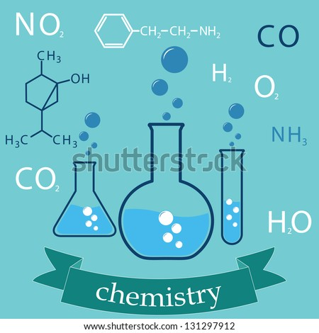subject of chemistry. cover-background. vector eps8