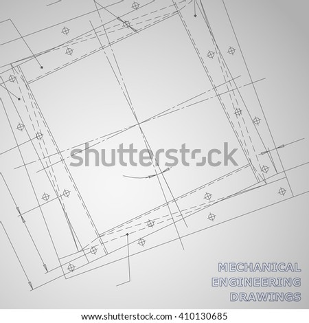 Subject vector gray background. Mechanical engineering elements. Technical illustration Corporate Identity