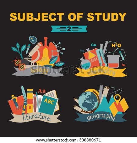 subjects of study: biology, chemistry, literature, geography