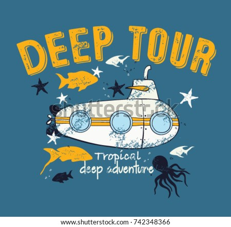 submarine and deep life of kids