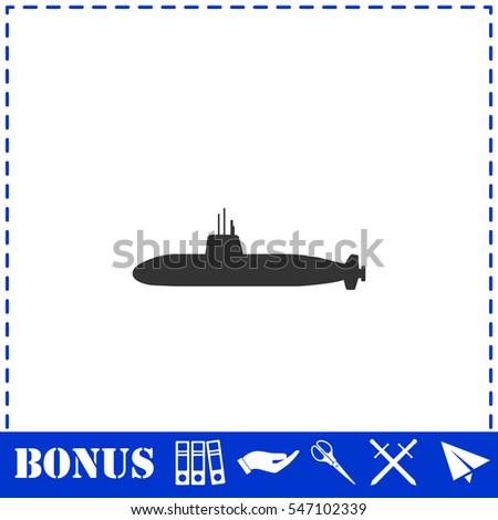 submarine icon flat simple