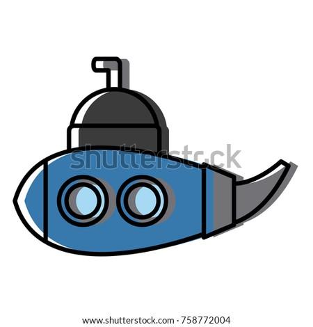 submarine sea ship icon vector