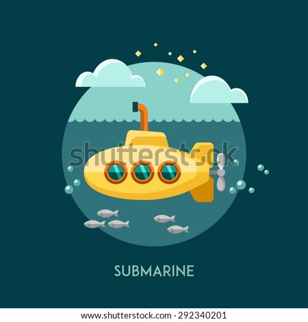 submarine vector illustration
