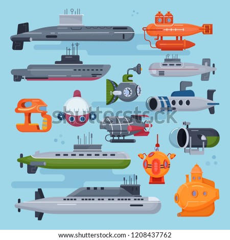 submarine vector sea pigboat or