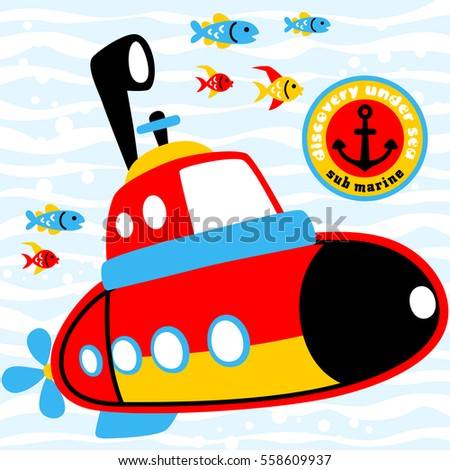 submarines in underwater