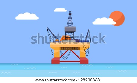 Submersible rig or drilling rig that is used in the oil and gas industry and petroleum field which in the deep water operation, the oil rig is applied in the offshore for producing crude oil and gas.