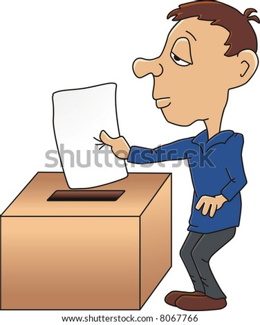 Submitting A Vote Stock Vector 8067766 : Shutterstock