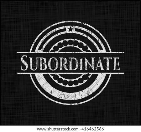 Subordinate chalk emblem
