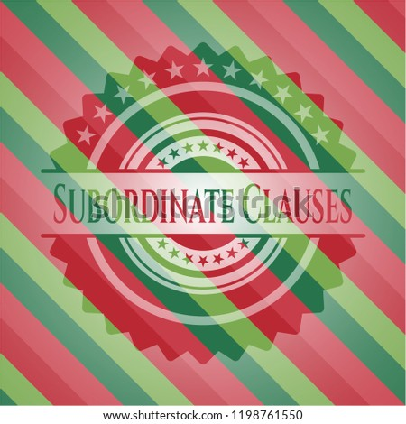 Subordinate Clauses christmas badge.