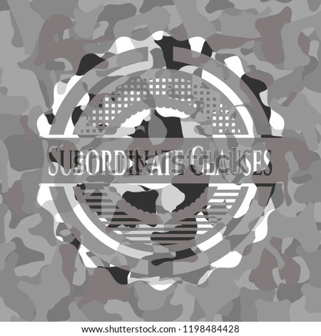 Subordinate Clauses grey camouflaged emblem
