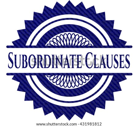 Subordinate Clauses jean background