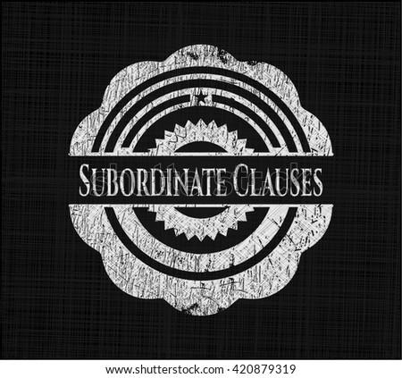 Subordinate Clauses on blackboard