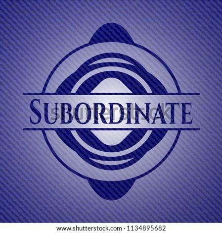 Subordinate with denim texture