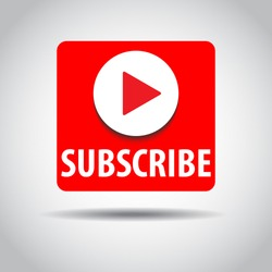 SUBSCRIBE - button color with shadow. Vector illustration. EPS 10