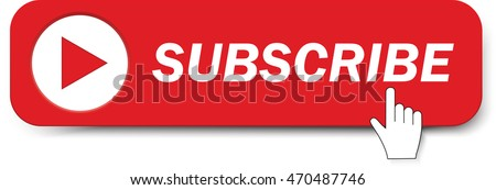 Subscribe button with mouse pointer. Vector illustration
