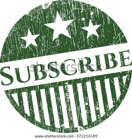 Subscribe grunge stamp