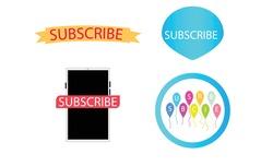 subscribe icon vector template design
