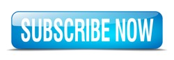 subscribe now blue square 3d realistic isolated web button