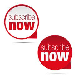 Subscribe now button sign
