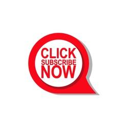 subscribe vector button design
