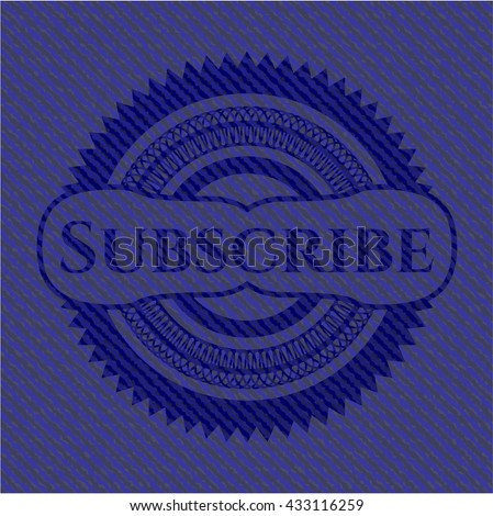 Subscribe with jean texture