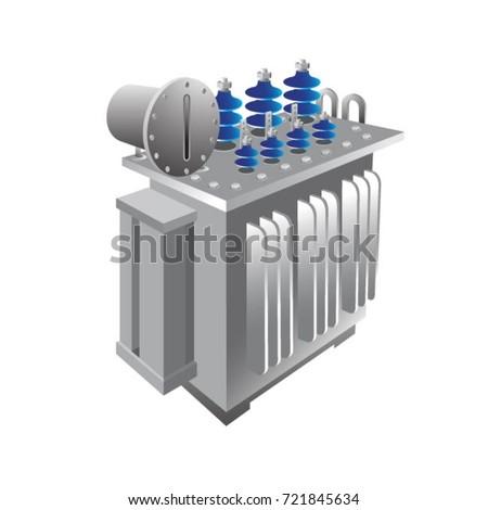 substation transformer in color
