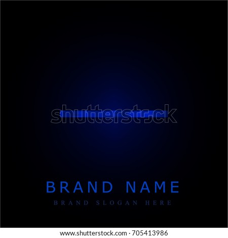 Substract blue chromium metallic logo