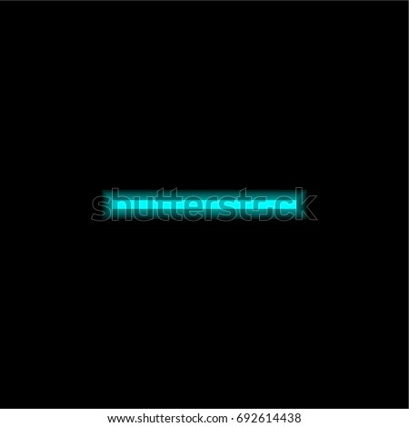 Substract blue glowing neon ui ux icon. Glowing sign logo vector