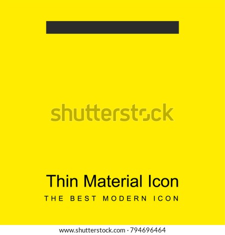 Substract bright yellow material minimal icon or logo design