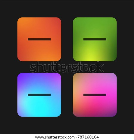 Substract four color gradient app icon design