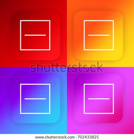 Substract four color gradient app icon set