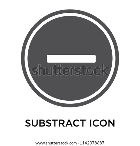 Substract icon vector isolated on white background for your web and mobile app design, Substract logo concept