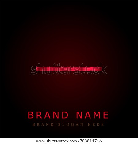 Substract red chromium metallic logo