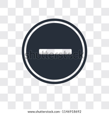 Substract vector icon isolated on transparent background, Substract logo concept