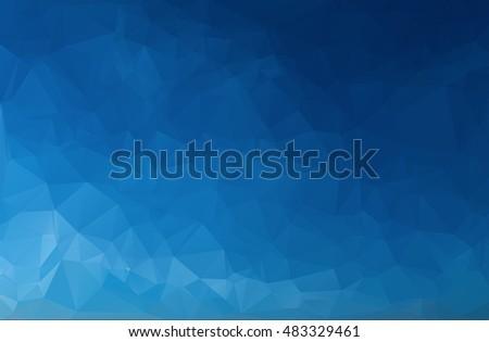 Subtle Blue Gradient Triangular Polygonal Illustration - Geometric Background