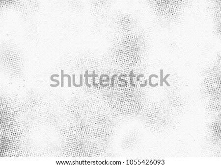 Subtle halftone vector texture overlay. Monochrome abstract splattered background. #1055426093