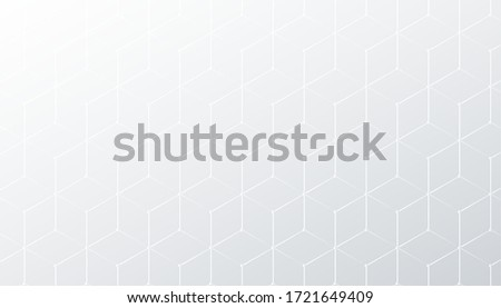 subtle hexagonal white and gray pattern background ストックフォト ©