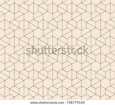 Subtle line seamless geometric abstract pattern background vectors design
