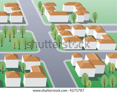 Suburb buildings design