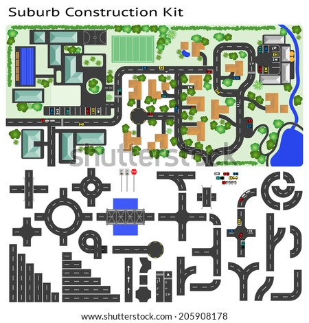 Suburb Road construction Kit to Build your own, see my portfolio for other kits