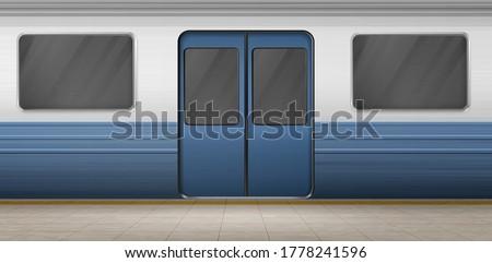 subway door  metro train on
