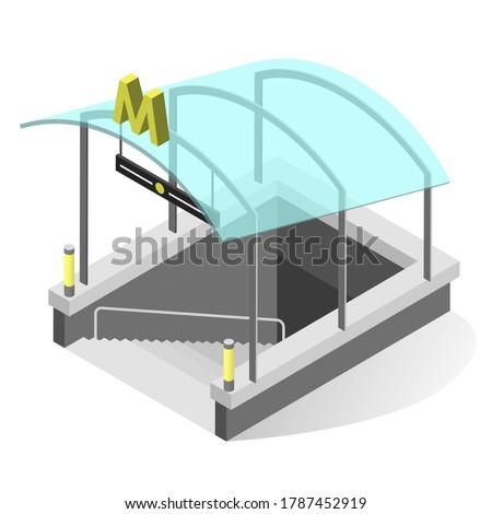 subway entrance isometric