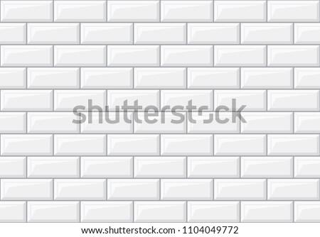 Subway seamless white pattern. Brick wall. Vector illustration