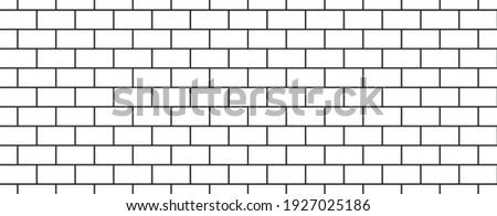 subway tile background white