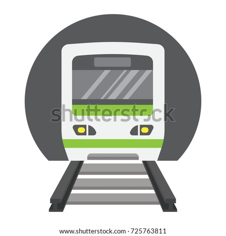 Subway train flat icon, transport and railway, metro sign vector graphics, a colorful solid pattern on a white background, eps 10.